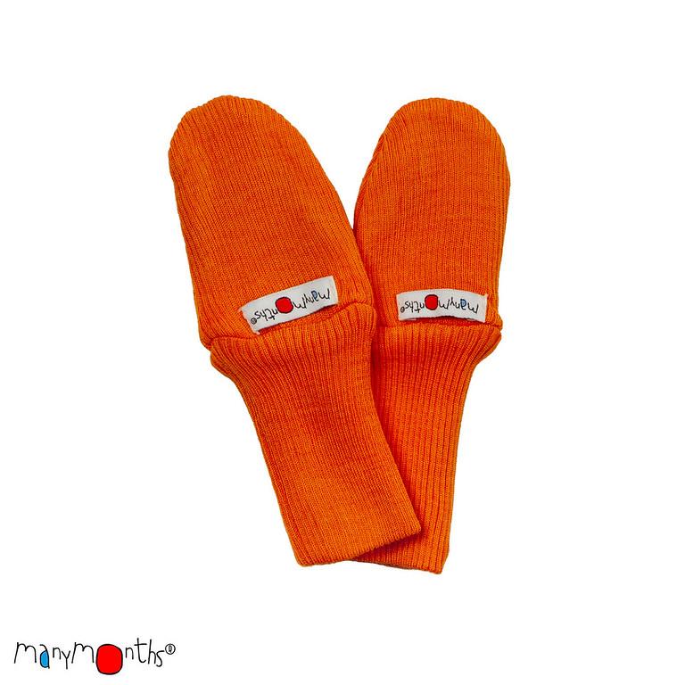 ManyMonths Natural Woollies Long Cuff Baby Mittens