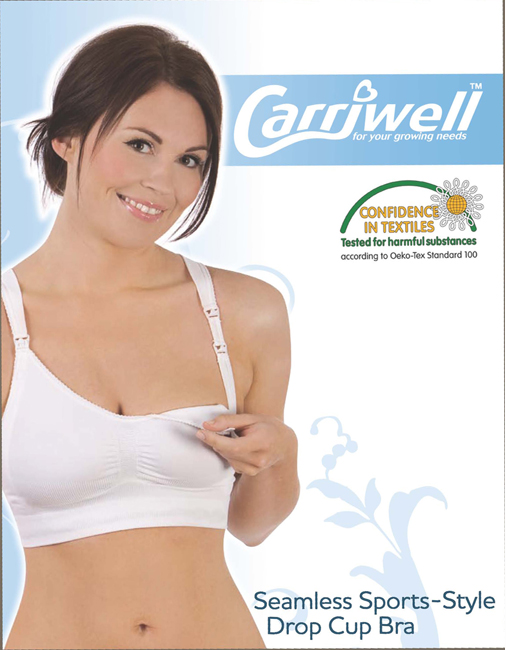 Carriwell Seamless Sports-Style Drop Cup Bra