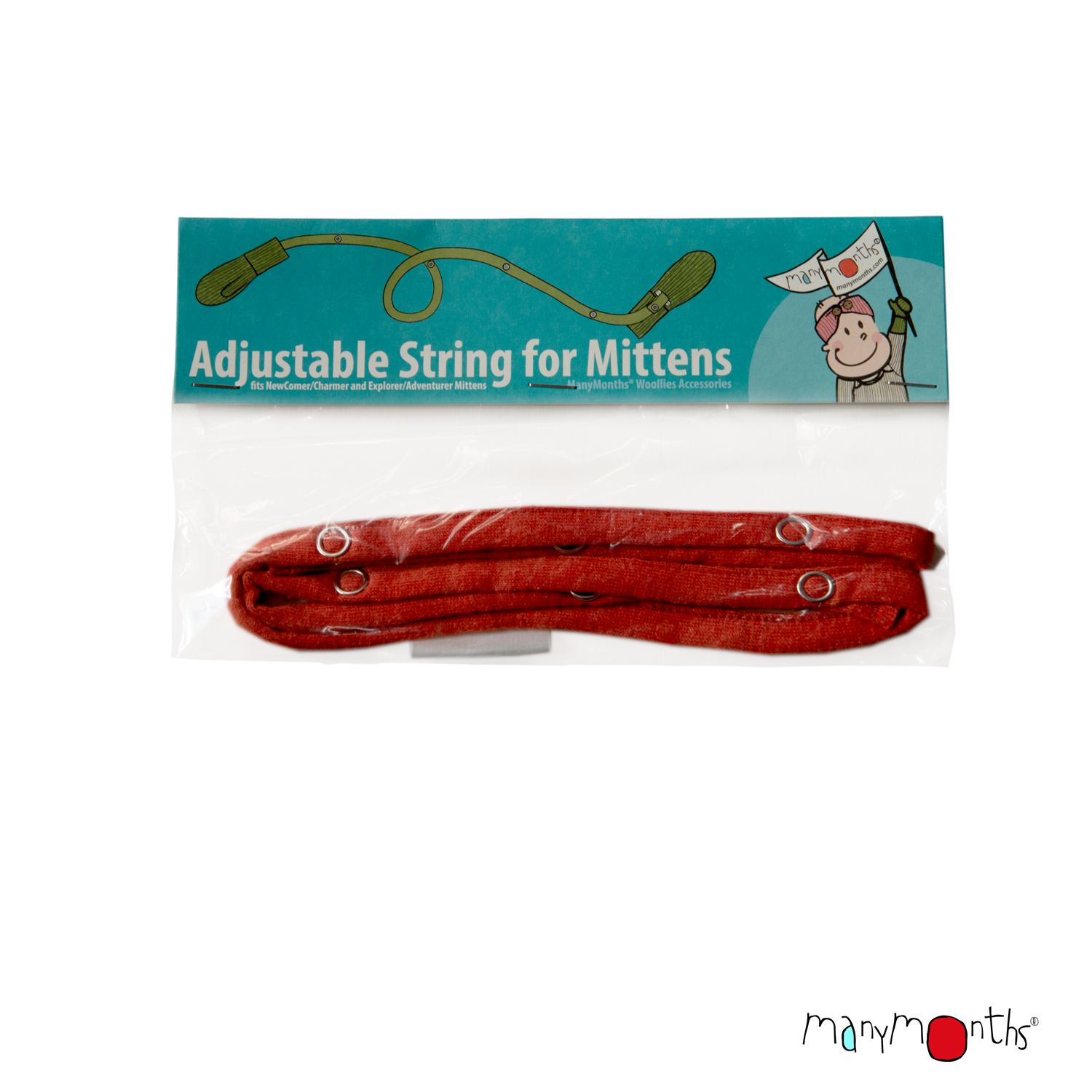 ManyMonths Natural Woollies Adjustable String for Mittens