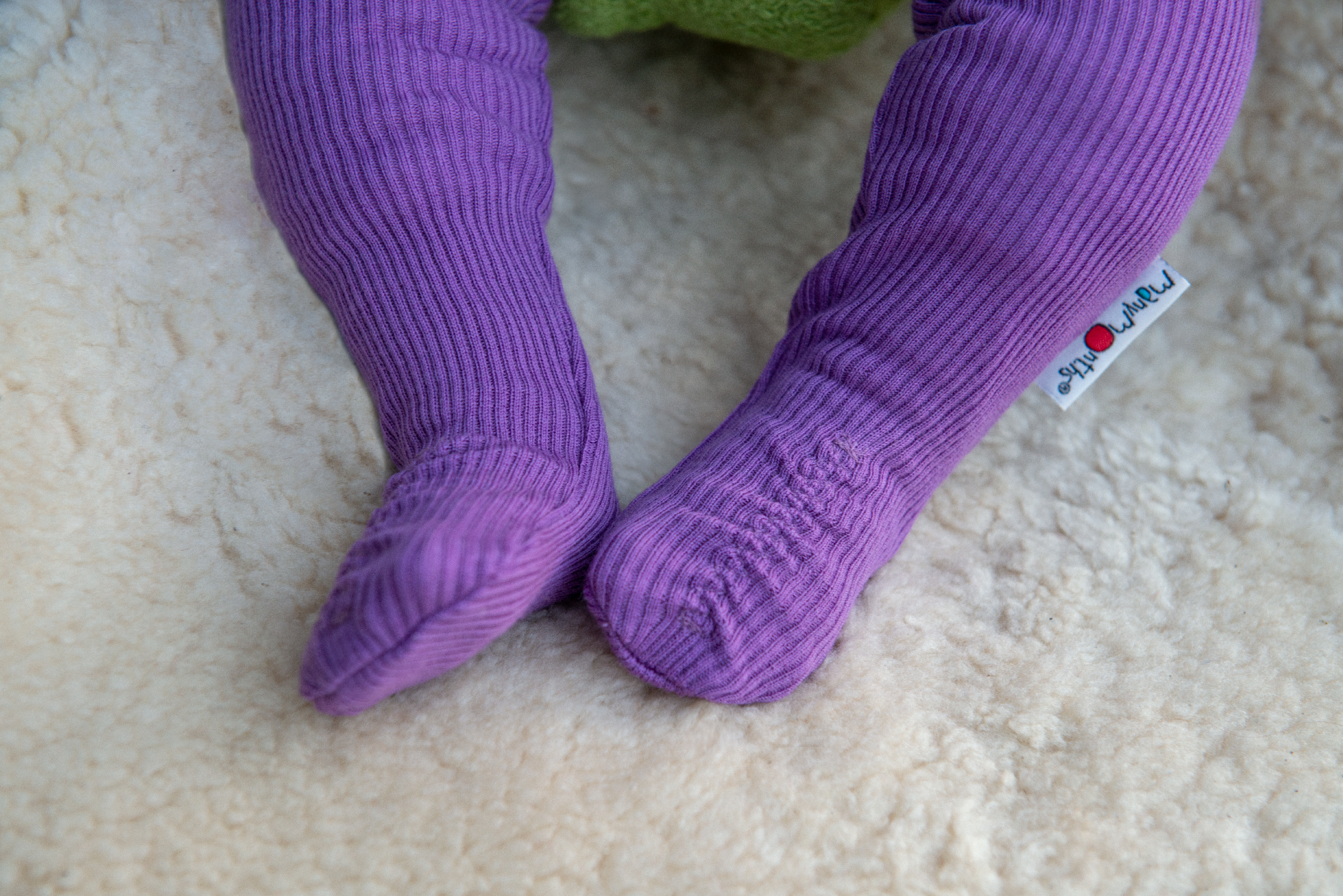 ManyMonths Natural Woollies Long Tube Baby Booties