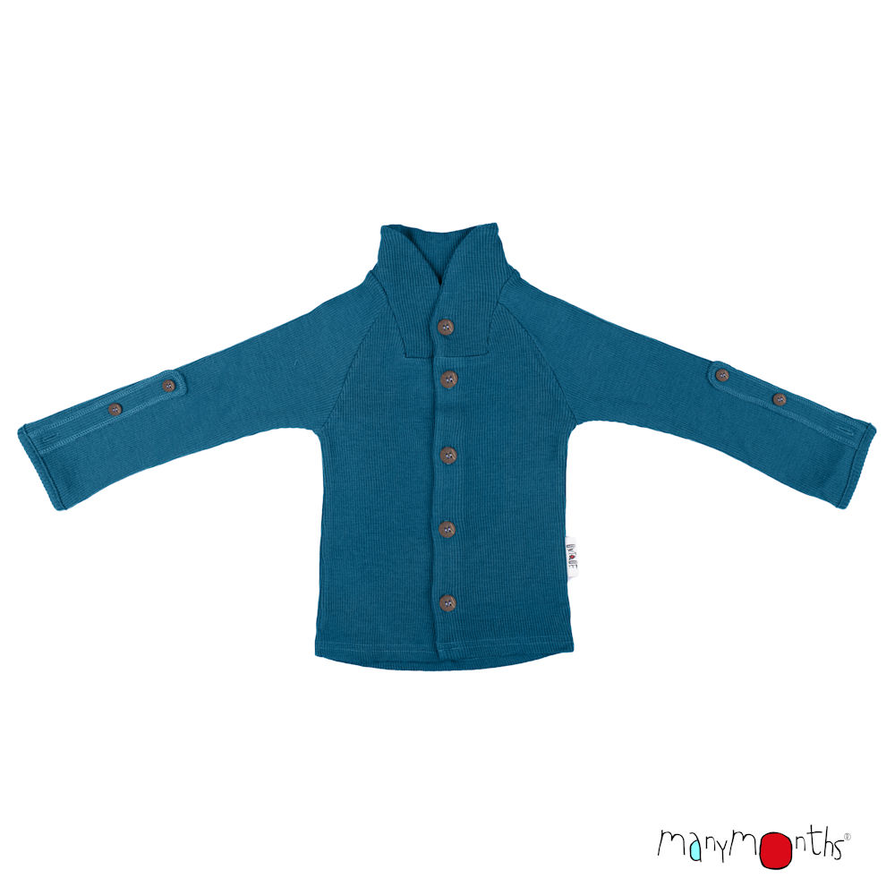 ManyMonths Natural Woollies Cardigan with Button Collar