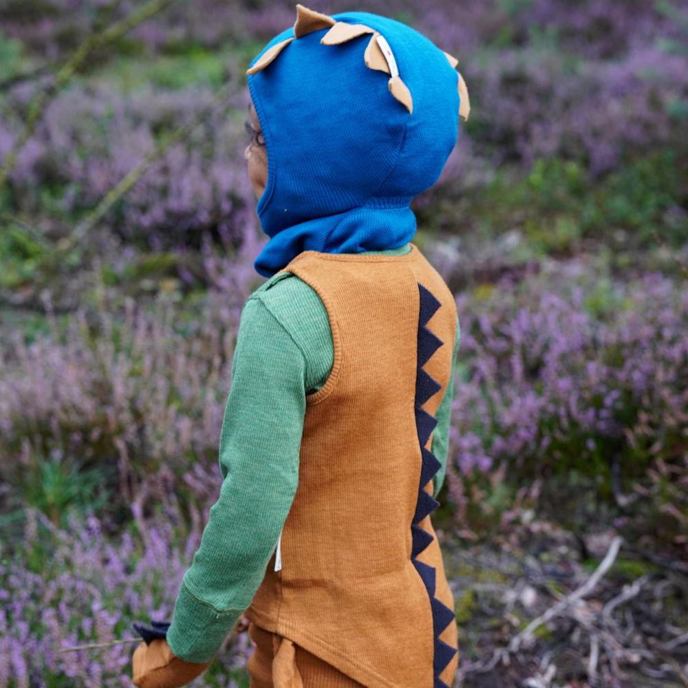 ManyMonths Natural Woollies Dino Hood UNiQUE