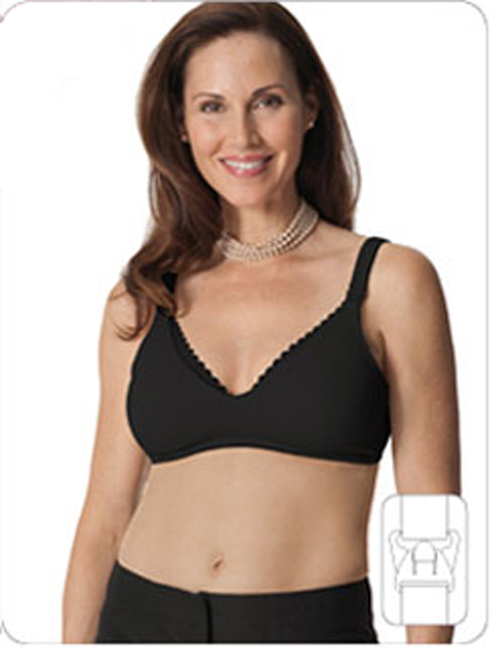 Glamourmom Mpress™ Lace Microfiber-Cotton Padded Nursing Bra