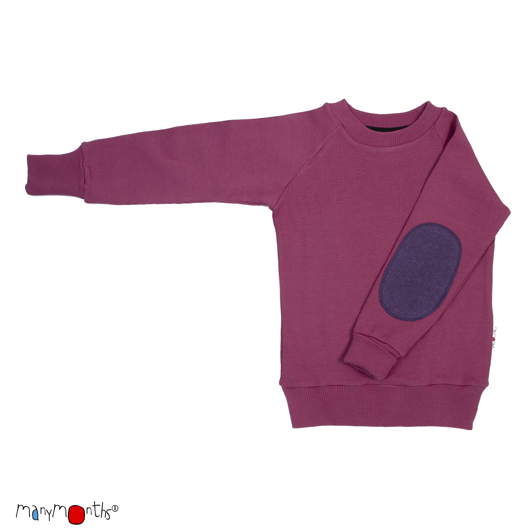 ManyMonths Natural Woollies Pullover with Elbow Patches