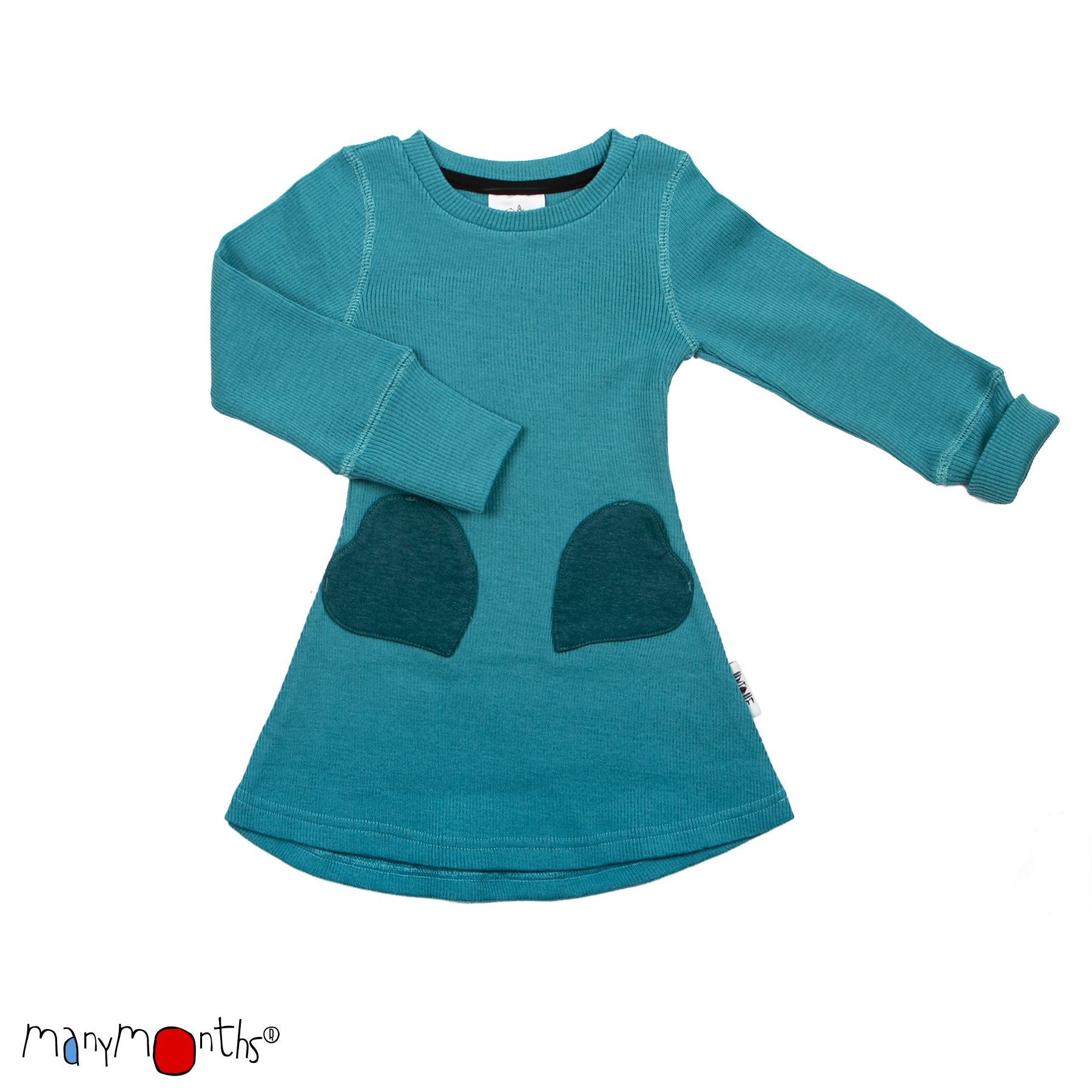 ManyMonths Natural Woollies Heart Pockets Dress