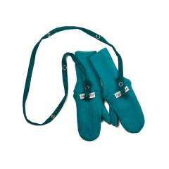 ManyMonths Natural Woollies Long Cuff Mittens, Royal Turquoise