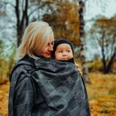MaM Äiskä Babywearing Poncho, Herringbone Classic