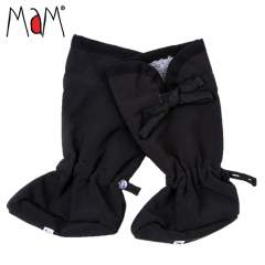 MaM SoftShell Baby Booties with Bow, Black