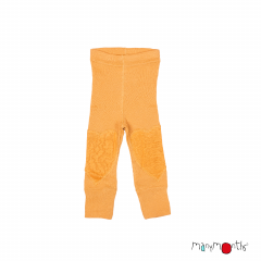 ManyMonths Natural Woollies Leggings with Heart Patches UNiQUE, Golden Oat, Innovator