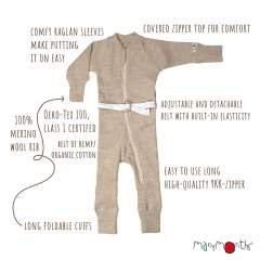 ManyMonths Natural Woollies One Piece Suit