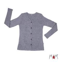 MaM Natural Woollies Cardigan, Silver Cloud