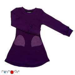 ManyMonths Natural Woollies Heart Pockets Dress, Majestic Plum