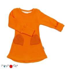 ManyMonths Natural Woollies Heart Pockets Dress, Festive Orange