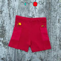 ManyMonths Natural Woollies Thermal Under/Over Unisex Shorts with Pockets UNiQUE, Cranberry Nectar