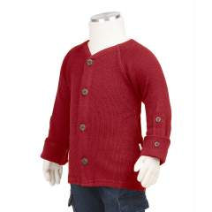ManyMonths Natural Woollies Cardigan with Adjustable Sleeves, Cranberry Nectar
