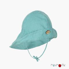 ManyMonths ECO Hempies Adjustable Summer Hat Light, Lionheart&beyond, Seafoam Green