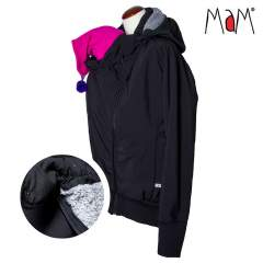 MaM SoftShell Babywearing Jacket, Black/Rock Grey