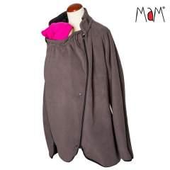MaM All-Season Fleece Babywearing Jacket, Lavastone Grey