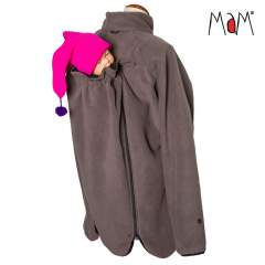 MaM All-Season Fleece Babywearing Jacket, Lavastone Grey
