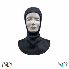 MaM/MaD Natural Woollies Elephant Hood, Foggy Black