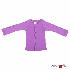 ManyMonths Natural Woollies Cardigan with Adjustable Sleeves, Lavender Crystal
