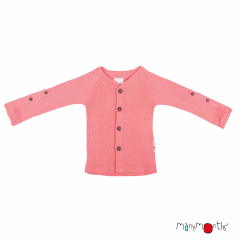 ManyMonths Natural Woollies Cardigan with Adjustable Sleeves, Peach Bud