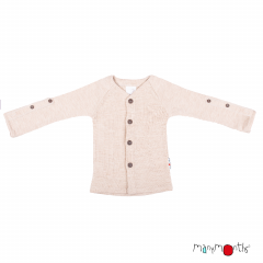 ManyMonths Natural Woollies Cardigan with Adjustable Sleeves, Toasted Coconut