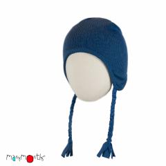 ManyMonths Natural Woollies Earflap Beanie, Cosmos Blue