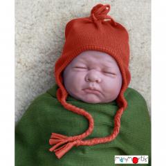 ManyMonths Natural Woollies Earflap Beanie, Rooibos Red