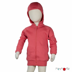 ManyMonths Natural Woollies Hooded Zip Cardigan with side pockets