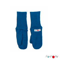 ManyMonths Natural Woollies Long Cuff Mittens, Cosmos Blue