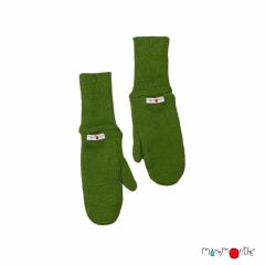 ManyMonths Natural Woollies Long Cuff Mittens, Garden Moss Green