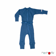 ManyMonths Natural Woollies One Piece Suit, Cosmos Blue