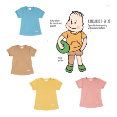 ManyMonths ECO Kangaroo T-Shirt with Big Pocket