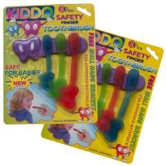 Kiddo Finger Toothbrush 3-Pack + Hanger
