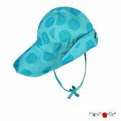 ManyMonths ECO Hempies Adjustable Summer Hat Light, Innovator/Enthusiast, Big Dots Turquoise