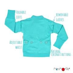 ManyMonths ECO Hempies Adjustable Zip Vest/Jacket, Adventurer, Turquoise