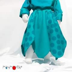 ManyMonths ECO Hempies Bellflower Skirt UNiQUE, Adventurer/Conqueror, Big Dot Turquoise