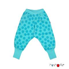 ManyMonths ECO Hempies Slouchy Trousers, Innovator, Big Dot Turquoise