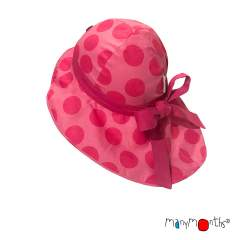 ManyMonths ECO Hempies Adjustable Summer Hat with Bow UNiQUE, Lionheart&Beyond, Big Dots Pink