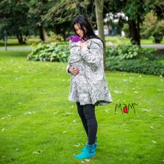 MaM Äiskä Babywearing Poncho, Polar Fleece