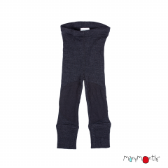 ManyMonths Natural Woollies Unisex Leggings with Knee Patches, Foggy Black, Innovator