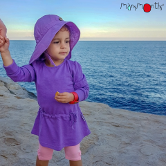 ManyMonths ECO Hempies Long/Short Sleeve Strap Tunic, Adventurer, Sheer Violet