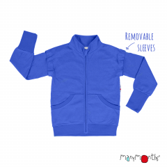 ManyMonths ECO Hempies Adjustable Zip Vest/Jacket, Conqueror, Atlantic Blue