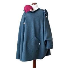MaM Äiskä Babywearing Poncho, Wool/Cotton