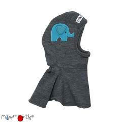 ManyMonths Natural Woollies Elephant Embroidery Hood UNiQUE
