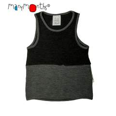 ManyMonths Natural Woollies Thermal Under/Over Top with Pocket UNiQUE